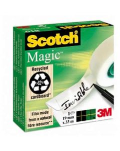 Cinta adhesiva scotch magic 33 m.x19 mm. (02068) 0