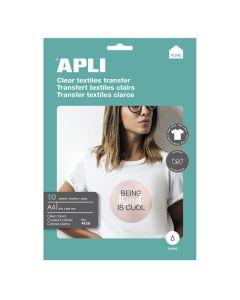 Papel transfer apli camisetas blancas 10 hojas a4 (04128) 0