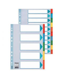 Separador esselte carton indice color 5 posiciones a4 (100191) 0