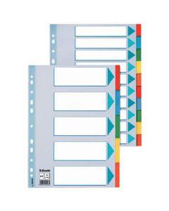 Separador esselte carton indice color 10 posiciones a4 (100193) 0