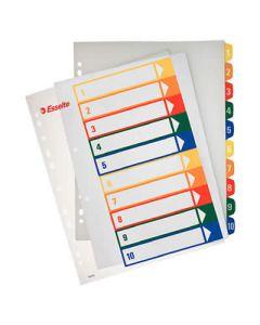 Indice esselte pp. imprimible 1-10 posiciones (100213) 0