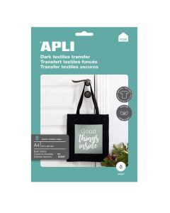 Papel transfer apli camisetas oscuras, negras y blancas 5 hojas a4 (10247) 0