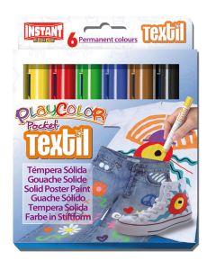 Tempera playcolor solida playcolor 6 barritas colores textil (10501) 0
