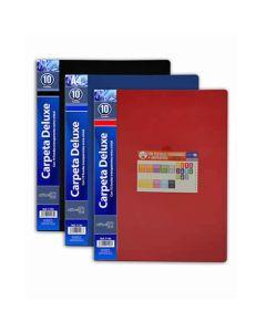 Carpeta o. box flexible 10 fundas a4 azul (1126) 0