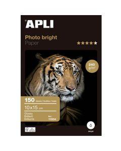 Papel photo apli bright pro. 240 grs. 10x15 cm. 150 hojas (11504) 0