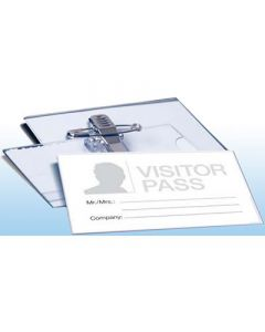 Tarjeta apli identificacion con pinza + alfiler 90x56 mm. (11746) 0