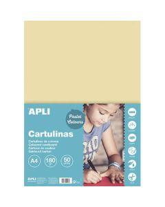 Cartulina apli 180 grs. a4 50 hojas crema (14233) 0