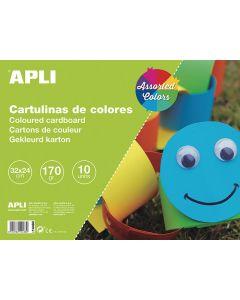 Bloc cartulinas apli 32x24 cm. 10 hojas colores surtidos (14483) 0