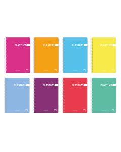 Cuaderno pacsa tapa p.p. extra dura fº 80 hojas 90 grs. col. surt. cdla. plastipac (16467) 0