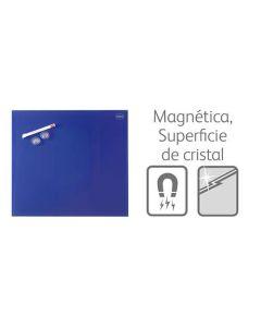 Pizarra nobo diamond magnetica cristal 450x450 mm. azul (1903953) 0