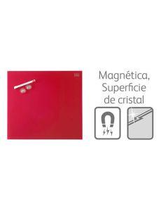 Pizarra nobo diamond magnetica cristal 450x450 mm. roja (1903955) 0