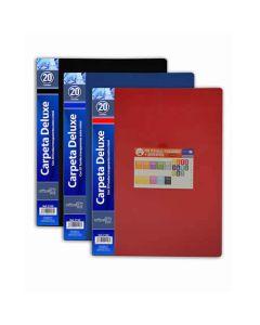 Carpeta o. box flexible 20 fundas a4 azul (2126) 0