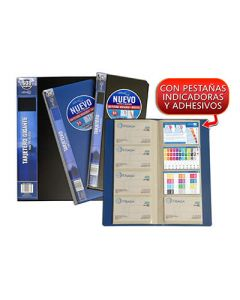 Tarjetero o. box 120x275 mm. 240 tarjetas azul (24428) 0