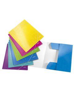 Carpeta esselte 3 solapas wow a4 carton azul (39820136) 0