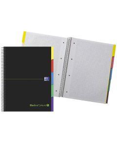 Cuaderno oxford ebook 5 tapa extradura 90 grs. a4+ 100 hojas 5x5 5 pestañas (400088331) 0