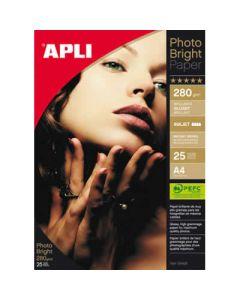 Papel photo apli bright pro. 280 grs. 25 hojas (4458) 0