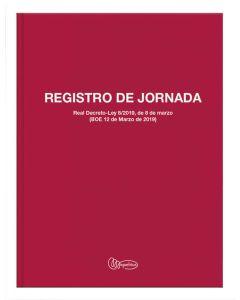 Libro miquelrius fº 40 hojas registro horario laboral (5090) 0