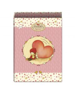 """Carpeta santoro """"poppi loves"""" heart 4 anillas 40 mm. fº (50935) 0"""