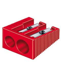 Afilalapiz staedtler plastico rectangular doble (510 60kp50) caja 50 unds 0
