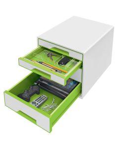 Bucs de cajones wow desk cube 4 cajones (2 grandes y 2 pequeños) verde/blanco (52132054) 0