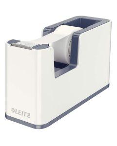 Dispensador de cinta adhesiva leitz wow dual gris/blanco (53641001) 0