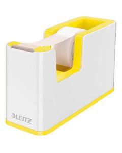 Dispensador de cinta adhesiva leitz wow dual amarillo/blanco (53641016) 0