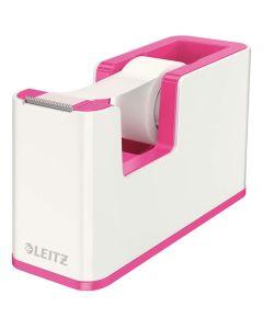 Dispensador de cinta adhesiva leitz wow dual fucsia/blanco (53641023) 0
