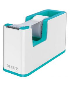 Dispensador de cinta adhesiva leitz wow dual turquesa/blanco (53641051) 0