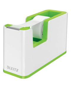 Dispensador de cinta adhesiva leitz wow dual verde/blanco (53641054) 0