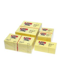 Taco de notas fixo 100 hojas amarillo 76x76 mm. (65005460) 0