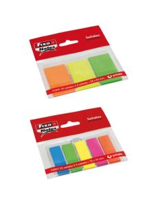 Puntos de pagina fixo notes 25x43 mm. 3 col. x 25 neon (65006280)   0