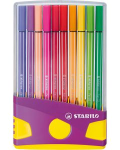 Estuche stabilo pen 68 colorparade 20 colores brillantes (6820-04-04) 0