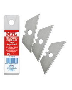 Estuche recambio 10 cuchillas mtl trapezoidales para cutter de seguridad (79277) 0