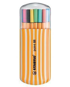 Estuche stabilo point 88 zebrui 20 colores brillantes (8820-02) 0
