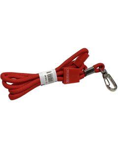 Cinta redonda o. box identificacion con mosqueton metalico rojo (94046) 0