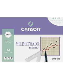 Minipack canson a4 12 hojas milimetrado (c200406323) 0