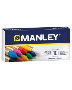 Ceras manley caja 10 uds. blandas colores surtidos (mnc00033) 0