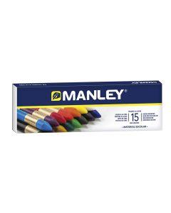Ceras manley caja 15 uds. blandas colores surtidos (mnc00055) 0