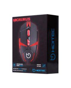 Ratón Gaming Hiditec Micrurus 8100 dpi Negro Rojo