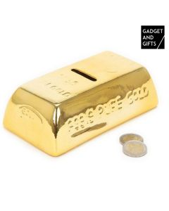 Hucha de Cerámica Lingote de Oro Gadget and Gifts 0