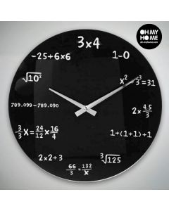 Reloj de Pared Matemáticas Oh My Home 0