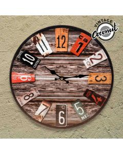 Reloj de Pared Antique Vintage Coconut 0