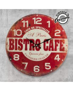 Reloj de Pared Bistro Cafe Vintage Coconut