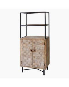 Estantería Metal y madera de abeto (145 x 60 x 38 cm)