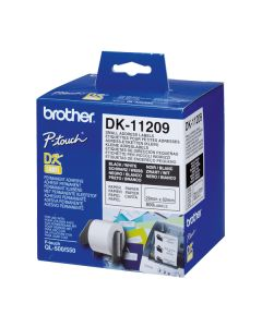 Etiquetas para Impresora Brother DK11209 62 x 29 mm Blanco
