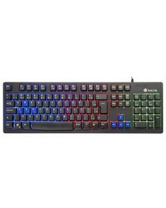 Teclado Gaming NGS GKX-300 PLUG&PLAY USB LED Multicolor Negro 0