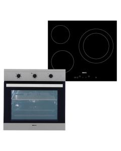 Conjunto de Horno y Vitrocerámica BEKO BIE22101X+HIC63401T 65 L TouchControl Inox Acero Negro 0