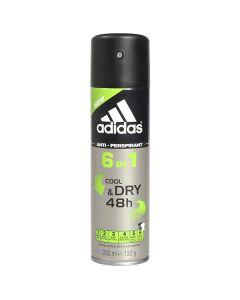 Desodorante en Spray Cool & Dry 6 In 1 Adidas (200 ml) 0