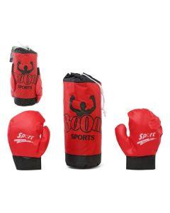 Saco de Boxeo & Guantes Rojo 118020 0