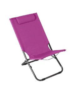 Silla de Playa Acero Púrpura (62 x 48,5 x 28/72) 0